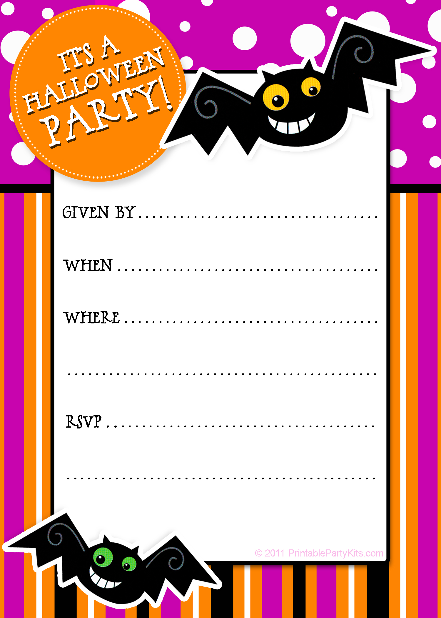 This is a graphic of Sassy Free Halloween Invites Printable