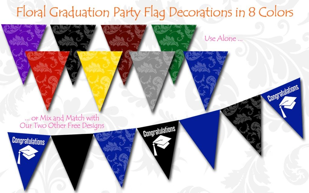 graduation flag banners
