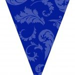 blue graduation flag decorations