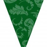 green graduation flags