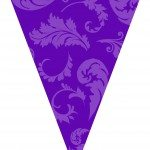 purple graduation flags