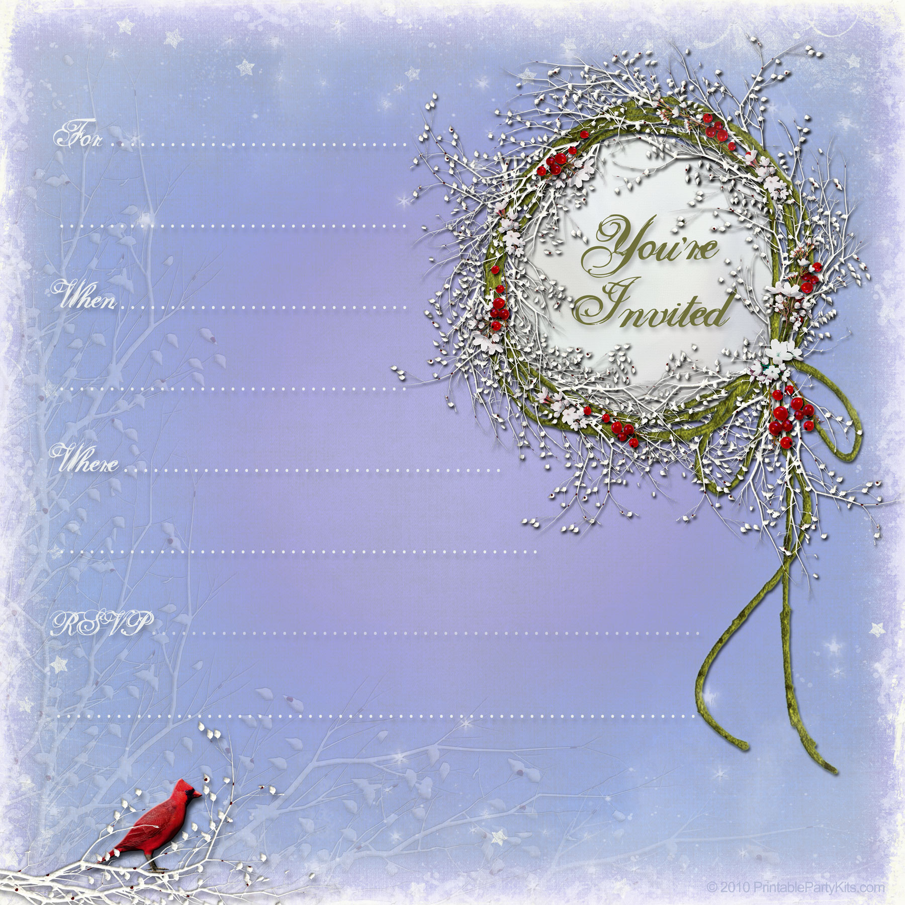... image to enlarge and download the winter party invitation template