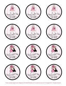free printable bridal shower party pick template