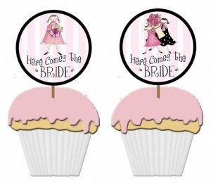 free bridal shower cupcake pick template