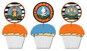 kids birthday party cupcake toppers