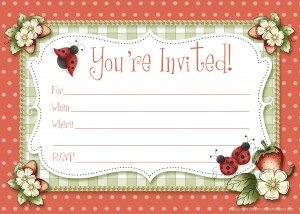 free ladybug party invitations