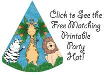 free printable safari animal birthday party hats