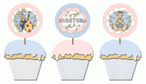 free Easter cupcake picks