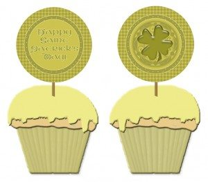 free printable Saint Patrick's Day cupcake toppers