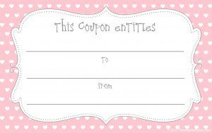free printable valentine love coupon