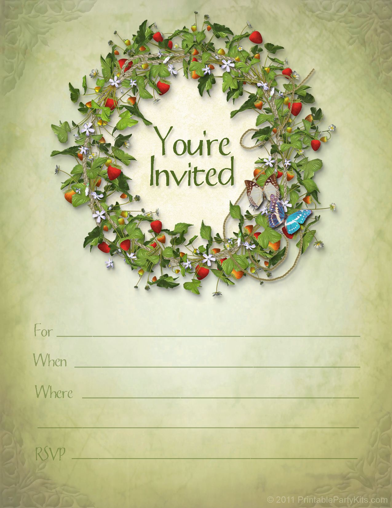 printable invitation templates free download .