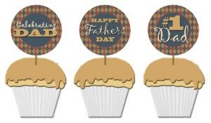 free printable Fathers Day cupcake toppers