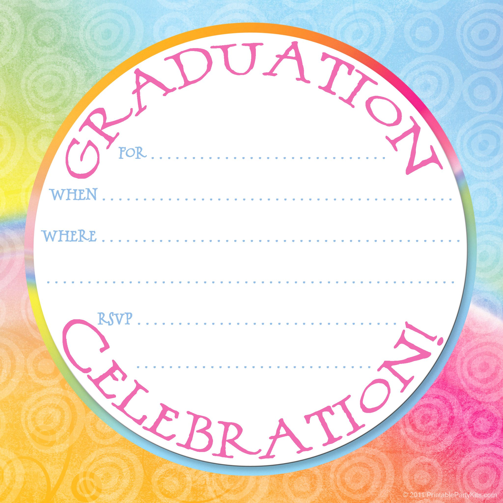 Free Printable Graduation Party Invitation Template – Graduation Invitations Templates 2011