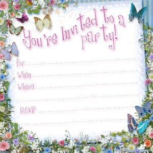 Free butterfly party invitation template