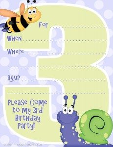 Free downloadable third birthday party invitations