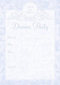 free printable dinner invitations