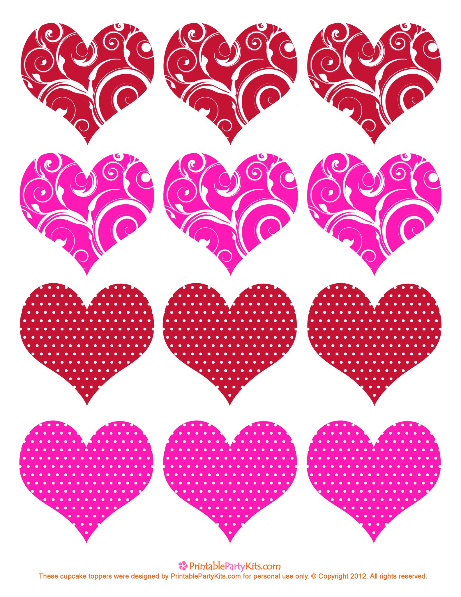 download the valentine cupcake picks toppers template here