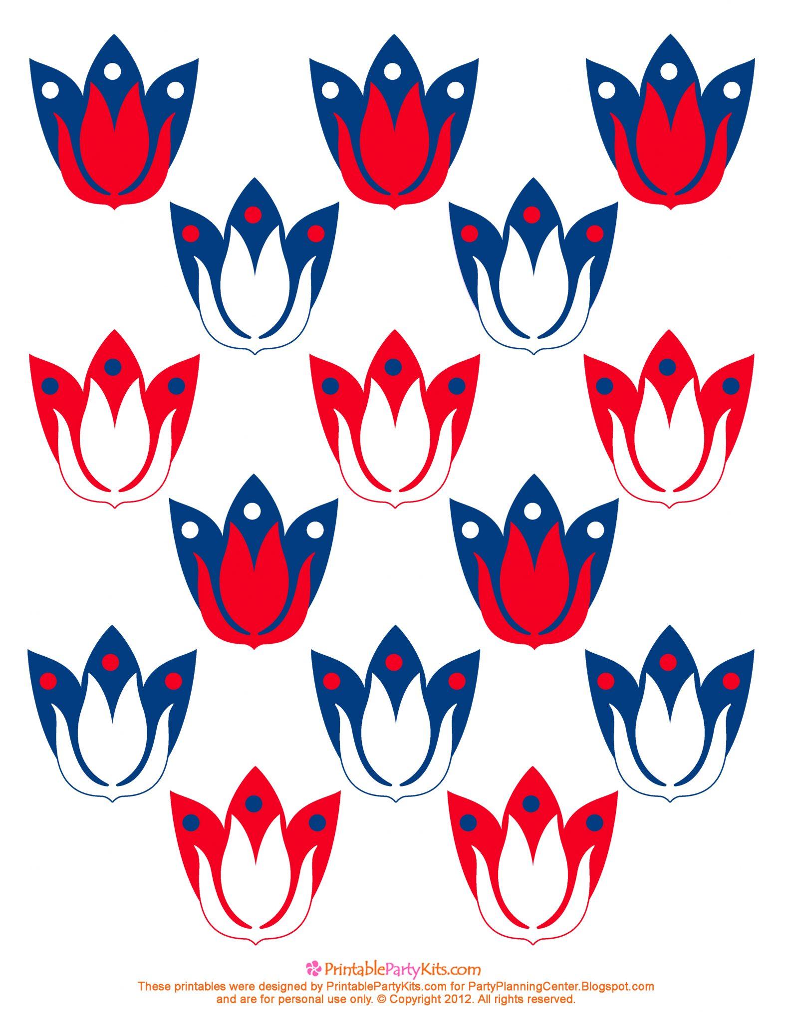 free 3d patriotic cupcake picks template printable party kits