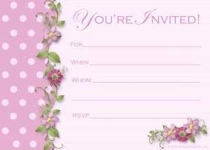 free pink polka dot party invitations