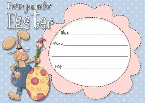 free Easter party invitation templates