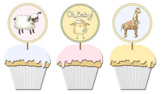 free printable baby shower cupcake picks