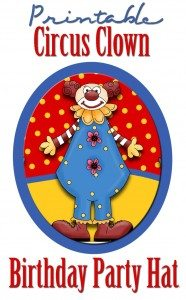 free printable circus clown birthday party hat template