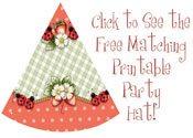 free printable ladybug party hats