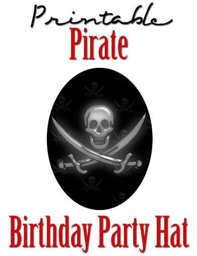 free printable pirate birthday party hat template