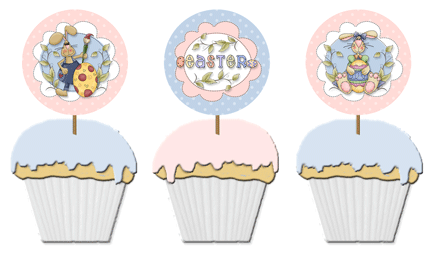 free Easter cupcake toppers