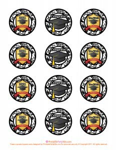 free printable graduation toppers template