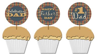 printable Fathers Day cupcake toppers