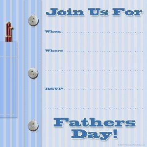 free printable Father's Day invitation template