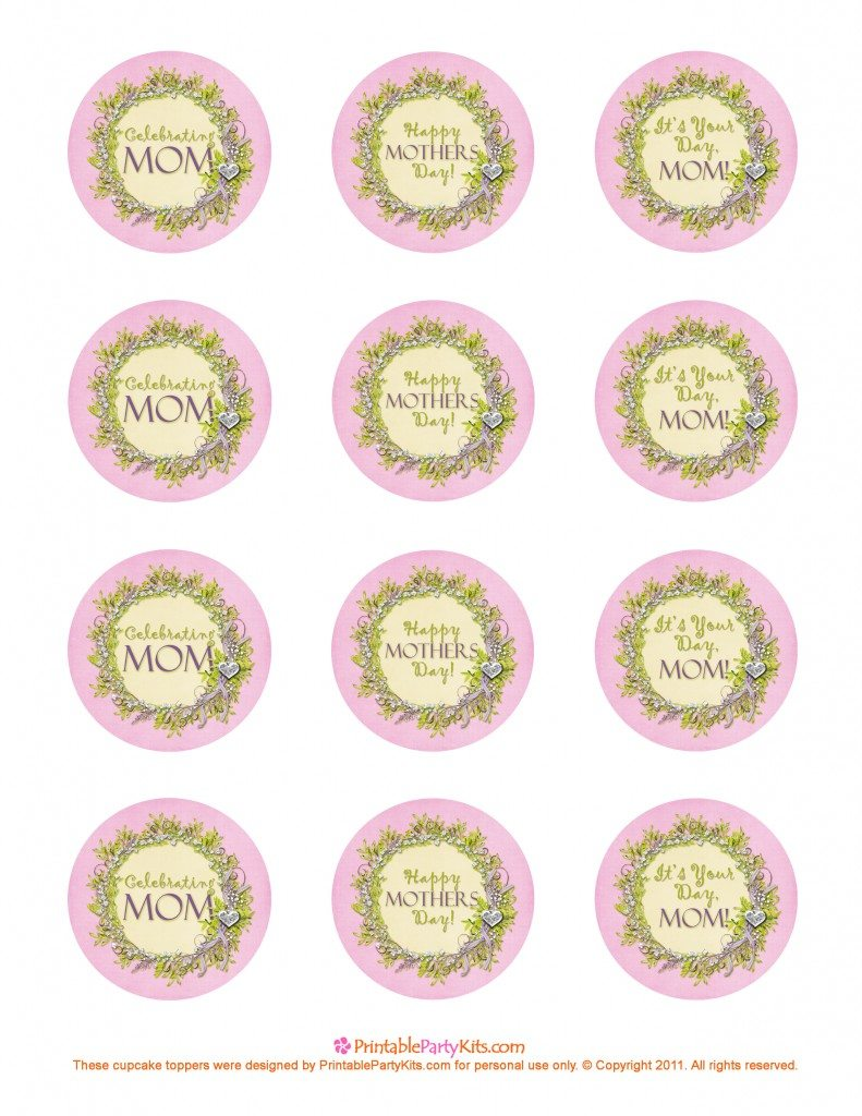 free printable Mothers Day toppers
