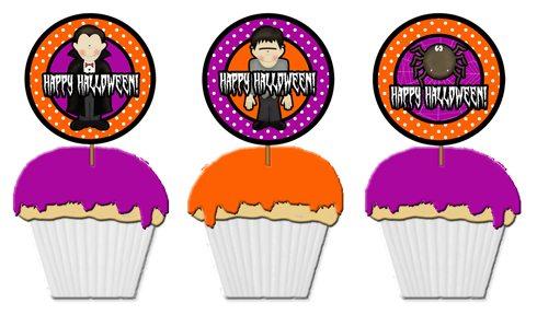 Halloween cupcake pick template