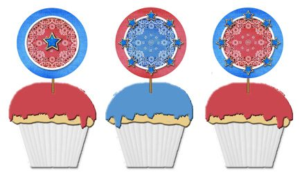 patriotic cupcake topper template