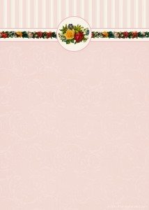 free vintage wedding invitation with Victorian flowers