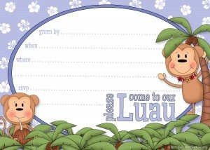 Free printable luau template