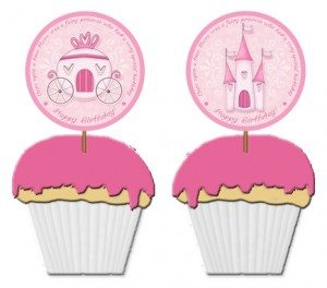 free princess birthday party toppers template