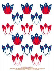 template to make patriotic cupcakes