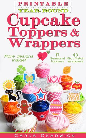 cucpcake wrappers and toppers e-book